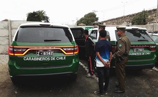 Huyeron con especies en carro de supermercado y fueron detenidos en Avenida Costanera