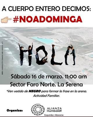 Organizan protesta ciudadana en contra de Proyecto Minero Dominga
