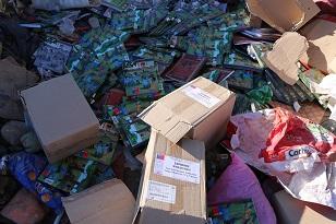 Investigan procedencia de libros botados en vertedero de Vicuña