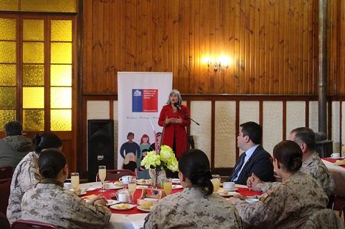 Mujeres del Ejército de interiorizan de nueva Ley de Fuero Maternal