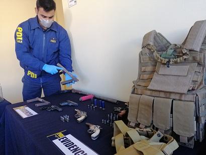 Operativo permite detener a siete individuos por tráfico de armas en Coquimbo