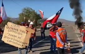 (VIDEO) Pequeños mineros de Combarbalá protestan y piden intervención de alcalde ante Enami