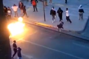 (VIDEO) Más de 60 sujetos atacaron Tercera Comisaría de Ovalle