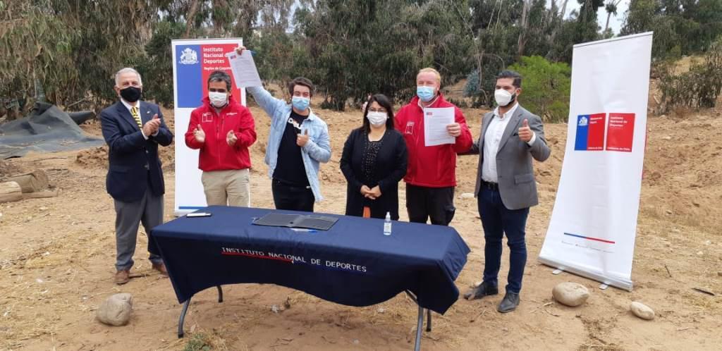 Autoridades firman nuevo convenio de uso para Pista Dirt Jump del Cendyr La Serena