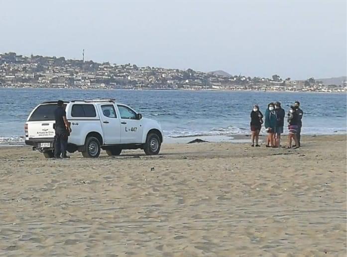 Mujer desaparece en playa grande de Tongoy
