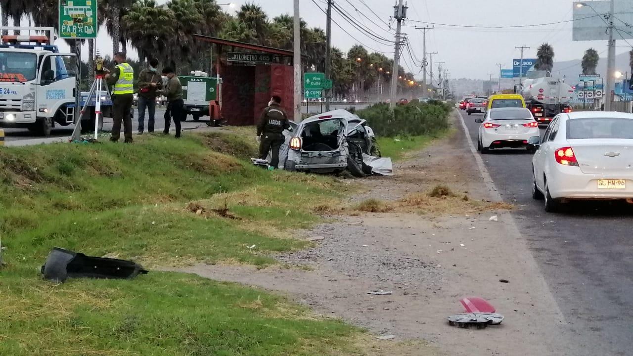 Mujer fallece en accidente de tránsito en Ruta 5