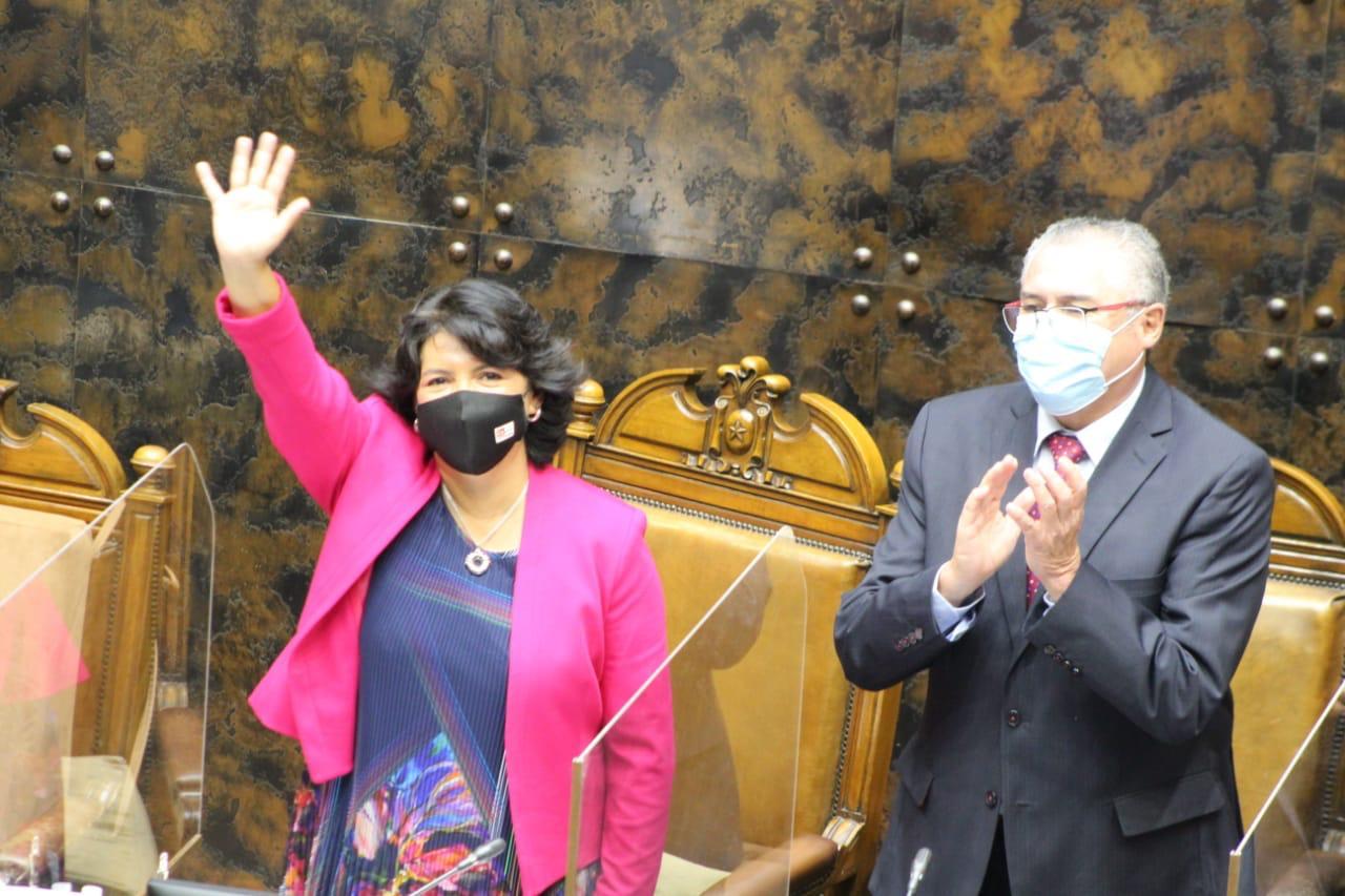 Yasna Provoste (DC) es electa como nueva presidenta del Senado y Jorge Pizarro asume como vicepresidente