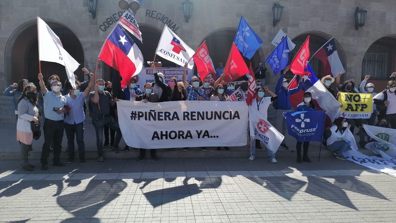 Huelga General: Gremios regionales se manifestaron por la actual crisis sanitaria