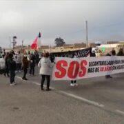 """Vecinos de Ceres nuevamente se manifiestan por falta de respuesta del Gobierno Regional. """"Yo hice la pega"""", dijo alcalde Jacob."""