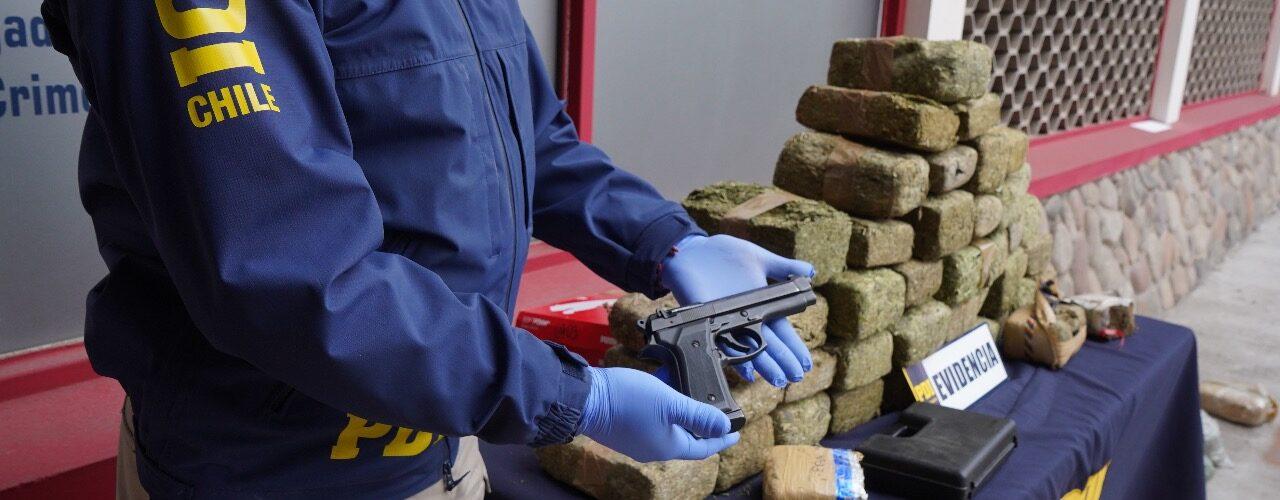107 kilos de marihuana boliviana avaluados en 540 millones de pesos fueron incautados en Coquimbo